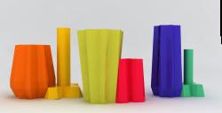 Vasi Minareto e Vasi Palazzo Pezzolla della collezione Dettagli di Valentina De carolis per Design For 2015
