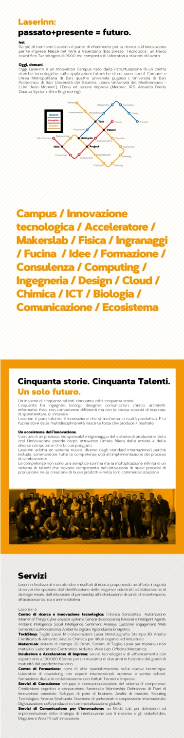 brochure Laserinn in collaborazione con agenzia Réclame