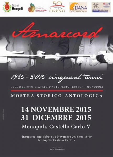 Monopoli, Castello carlo V, dal 14 novembre al 31 Dicembre