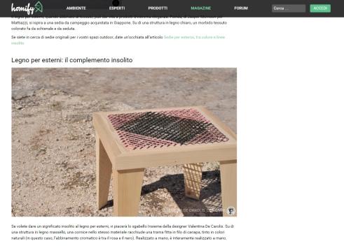 Insieme. Tavolo, sgabello e contenitori. Designed by Valentina De Carolis Ph Ida Chiatante