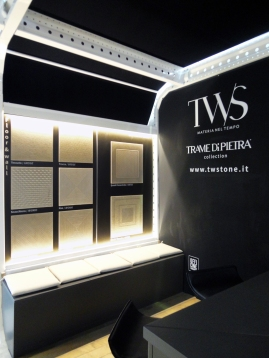 Valentina De Carolis per TRAME DI PIETRA collection by TWS Typical World Stones - MARMOMACC 2016